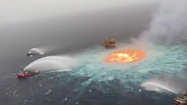 Okyanusta büyük yangın: Cehennemin gözü açıldı