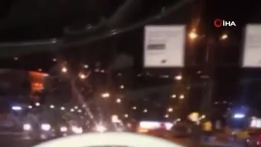 Bursa'daki kaza anı cep telefonu kamerasına yansıdı