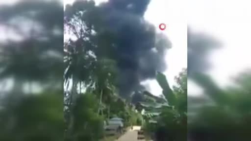 Filipinler'de 92 kişiyi taşıyan askeri uçak düştü!