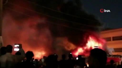 Irak'ta pandemi hastanesinde yangın! Çok sayıda ölü var...