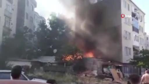 Bursa Güzelyalı'da korkutan yangın ev alevlere teslim oldu
