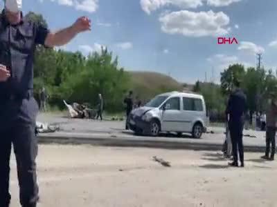 Ankara'da zincirleme kaza: 1 ölü, 10 yaralı