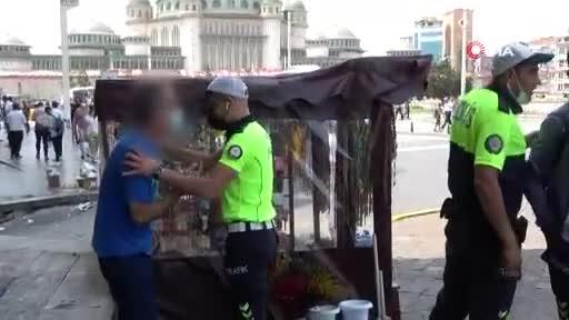 Taksim'de sokak ortasında taciz iddiası ortalığı karıştırdı!