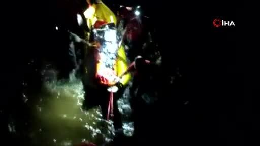 Bursa'da ayağı kırılan kişi 4 saat sonra kurtarıldı