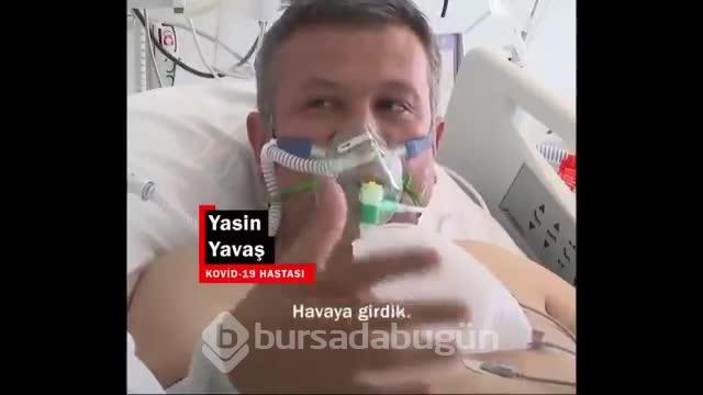Yoğun bakımdaki kovid hastasından aşı çağrısı