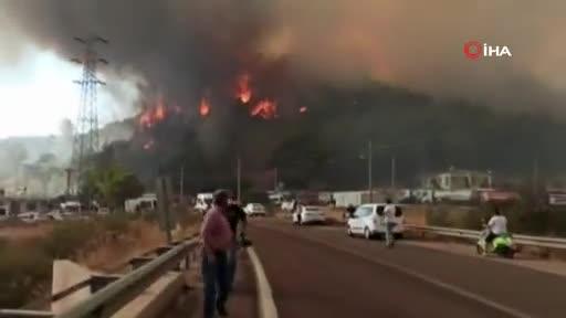 Marmaris'te Hisarönü tahliye ediliyor
