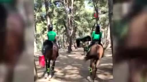 Bursa'da atlı birlikler yangın denetiminde