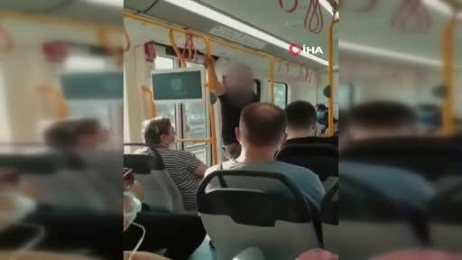 """Bursa'da metroya maskesiz bindi, """"Özel harekâtçıyım"""" dedi"""
