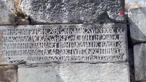 Bursa İznik'te 2 bin yıllık surlara işlenmiş kitabenin sırrı çözüldü