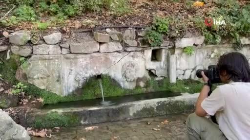 Bursa'daki 2 bin yıllık lahitten 150 yıldır su akıyor