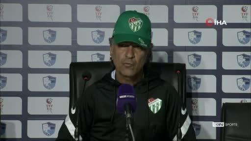 Bursaspor'dan mağlubiyet değerlendirmesi: İyi oynadığımız maçı kaybettik