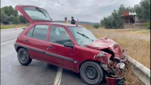 Bursa'da tır ile otomobil çarpıştı! 2 kişi yaralandı