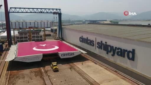 Bursa'da üretilen 1915 Çanakkale Köprüsü'nün son tabliye bloğu Çanakkale'ye ulaştı