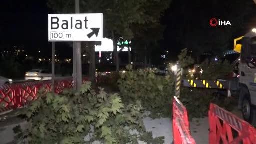 Bursa'da yeni metro hattında ağaç seferberliği