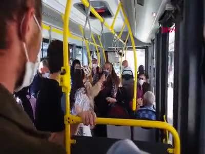 Sivas'ta halk otobüsünde 'maske' kavgası!