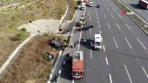 Kuzey Marmara Otoyolu'nda feci kaza! Ölü ve yaralılar var