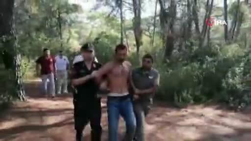 Antalya Manavgat'ta ormanı yaktığı iddia edilen kişi yakalandı