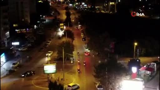 Bursa'da 300 polisle drone destekli asayiş uygulaması yapıldı