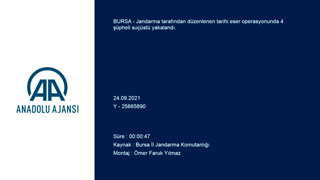 Bursa'da tarihi eser satmaya çalışan 4 kişiye gözaltı