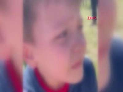 İstanbul'da oğluyla kavga eden 7 yaşındaki çocuğu korkutarak kaydetti