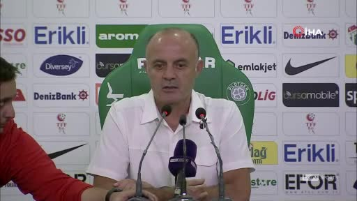 Bursaspor Teknik Direktörü Bizati, 4-0'lık mağlubiyeti değerlendirdi