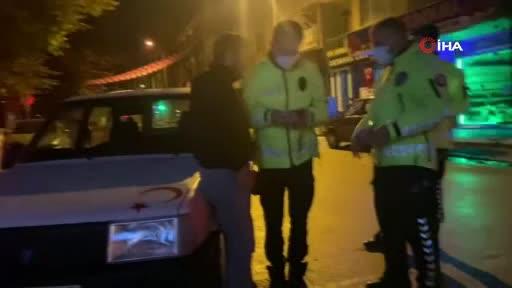 Bursa'da alkollü sürücü alkolmetreyi pos cihazı sandı