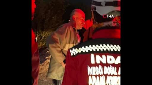 Bursa'da kayıp olduğu sanılan şahıs kendisini arama çalışmasına katıldı