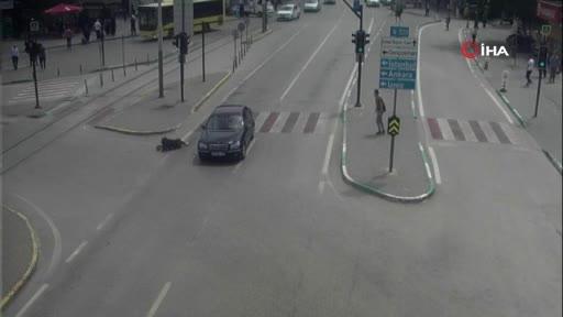 Bursa'da akılalmaz kazalar kameralara yansıdı