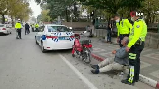 Bursa'da trafik cezasını duyan yaşlı adam hastanelik oldu
