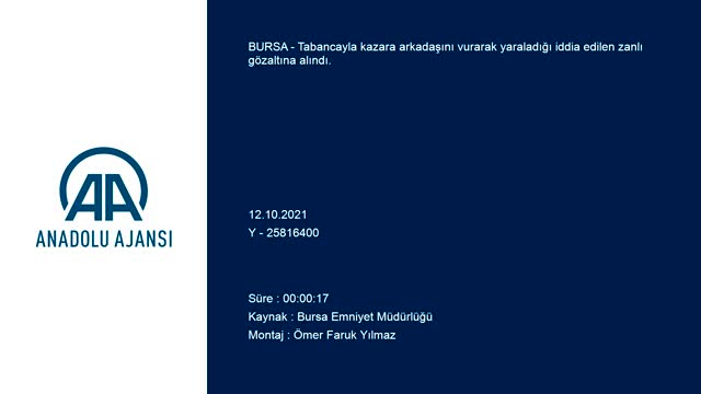 Bursa'da tabancayla kazara arkadaşını vuran şüpheli gözaltında